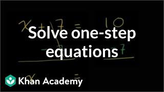 How to solve one-step equations | Linear equations | Algebra I | Khan Academy