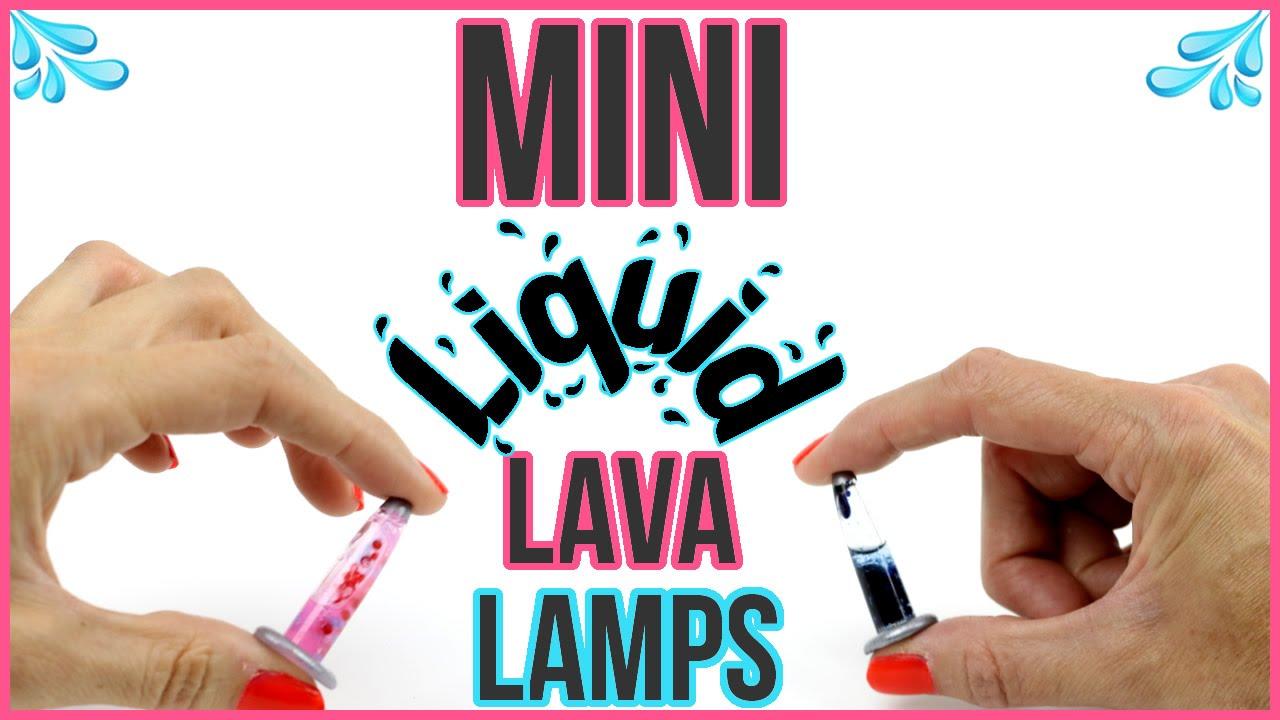 DIY Miniature LIQUID LAVA LAMPS! Orbeez, Lava, Glitter ...
