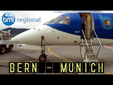 BMI Regional BM1712: Bern - Munich (Embraer ERJ-135) [HD 1080p]