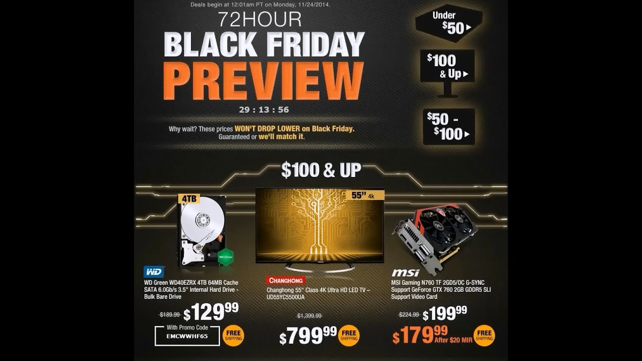 2014 Black Friday Newegg Sales - YouTube