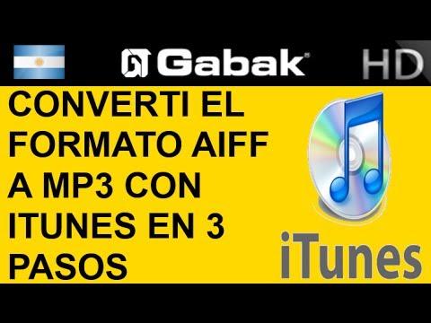 Converti el formato AIFF a MP3 con itunes en 3 pasos