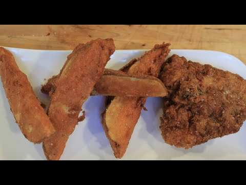 KFC Fried Chicken and Potato Wedges!!!