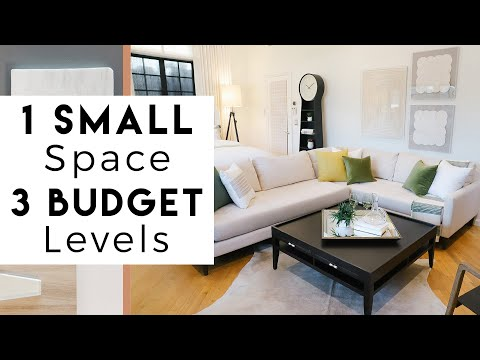 small-space-design-|-one-room-makeover-on-three-different-budgets-|-room-transformation
