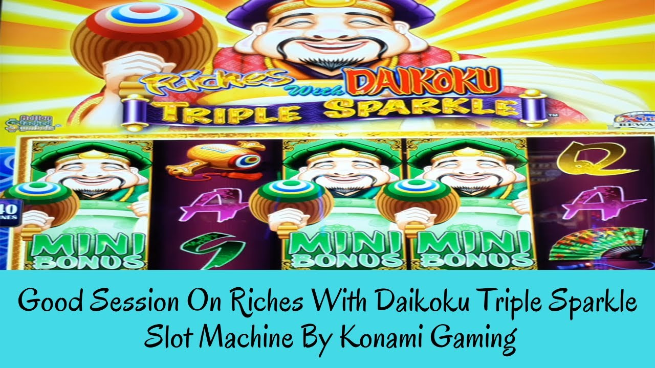 Download GOOD SESSION ON RICHES WITH DAIKOKU TRIPLE SPARKLE SLOT MACHINE By Konami Gaming - SunFlower Slots