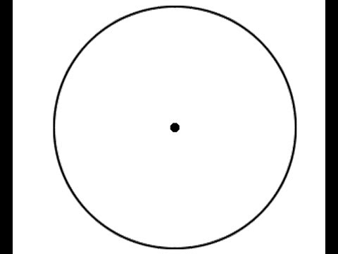 Draw A Circle With A Dot In The Center Without Lifting Your Pen