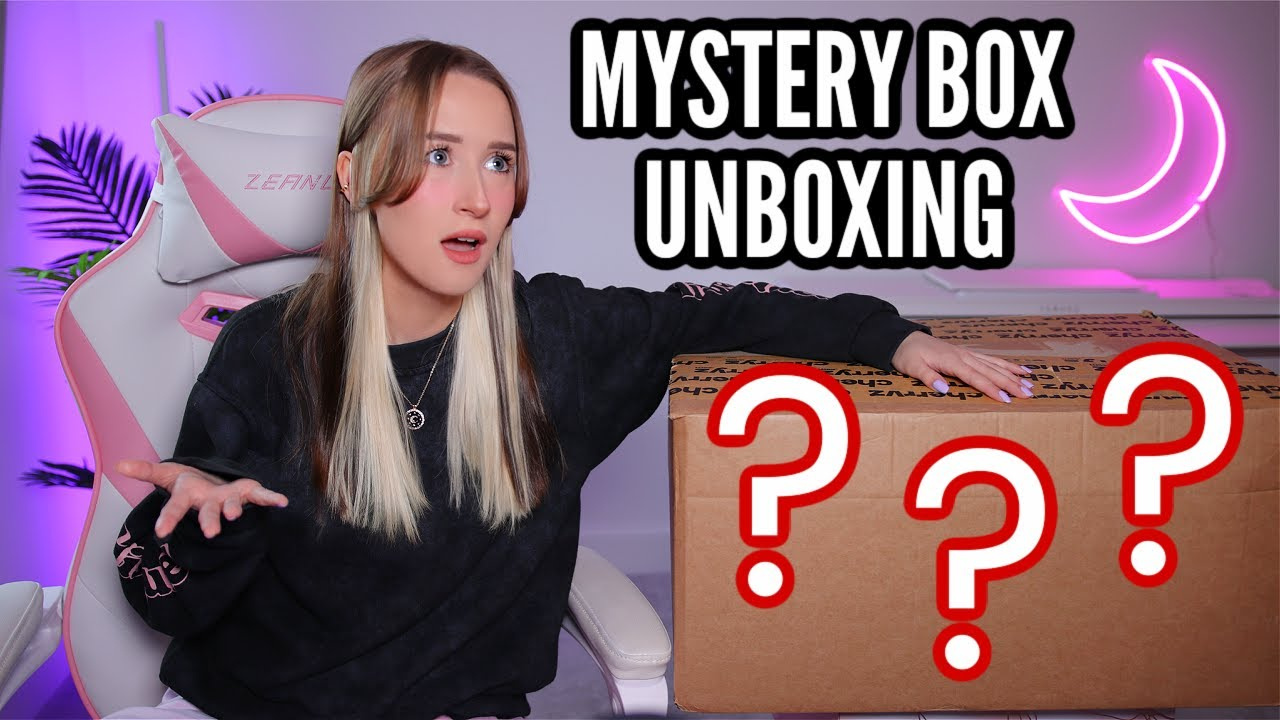 UNBOXING A GIANT MYSTERY BOX FROM MY BOYFRIEND...
