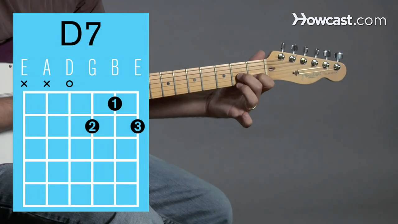 How To Play A D7 Open Chord Guitar Lessons Youtube