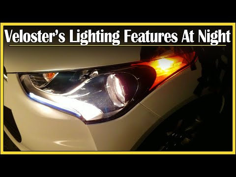 2015 Hyundai Veloster Review | Detailed NightTime Walk-around | Spooky Edition: Drive And Be Driven