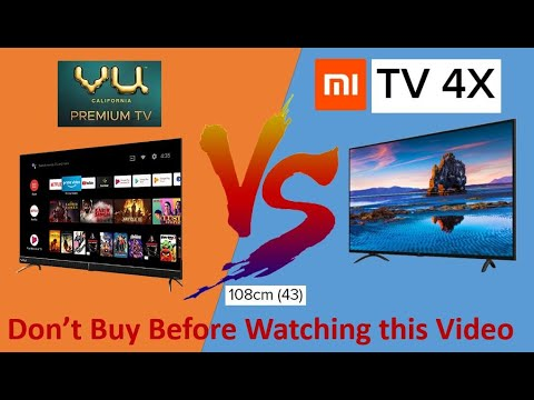 Vu Cinema TV Vs Xiaomi Mi TV 4X 4K 43-inch Comparison #Mi #Vu
