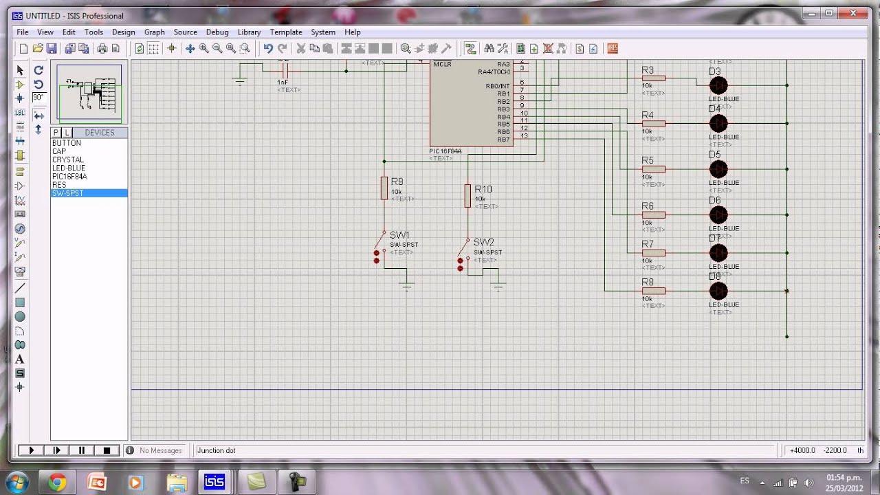 Tutorial secuenciador de 8 canales en proteus