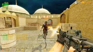 Counter Strike Source - Zombie Horde Mod online gameplay on Dust 2 map
