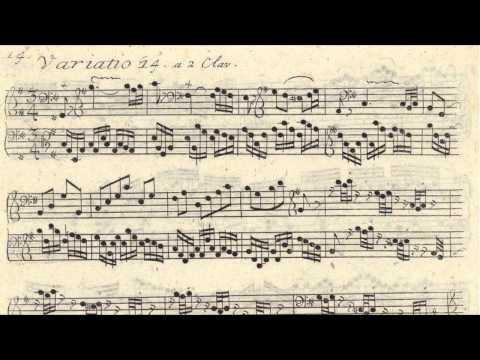 JS Bach - Original Handwritten Scores - Goldberg Variations (by Glenn Gould 1955)