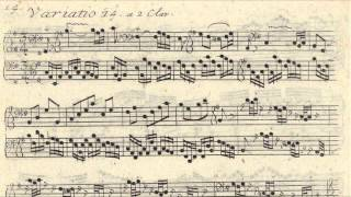 JS Bach - Original Handwritten Scores - Goldberg Variations (by Glenn Gould 1955)