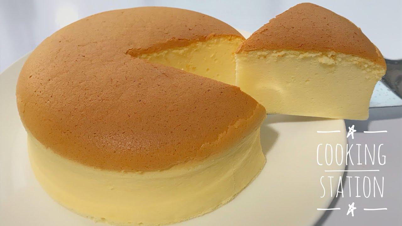 ชีสเค้กญี่ปุ่น  สูตรเจแปนนีสชีสเค้ก 1 ปอนด์     Fluffy Japanese Souffle Cheesecake recipe
