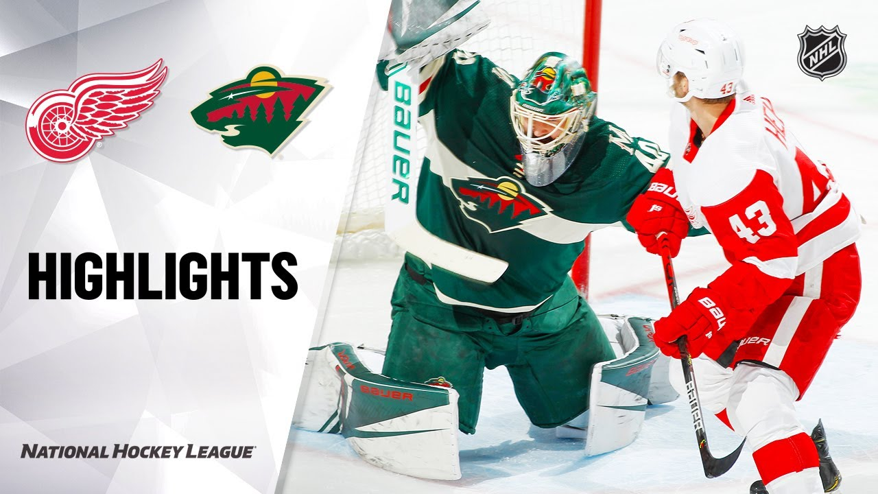NHL Highlights | Red Wings @ Wild 1/22/20
