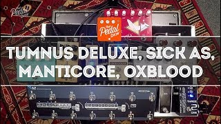 That Pedal Show – Beyond The Klon Centaur: Tumnus Deluxe, Oxblood, Manticore and Sick As Overdrives