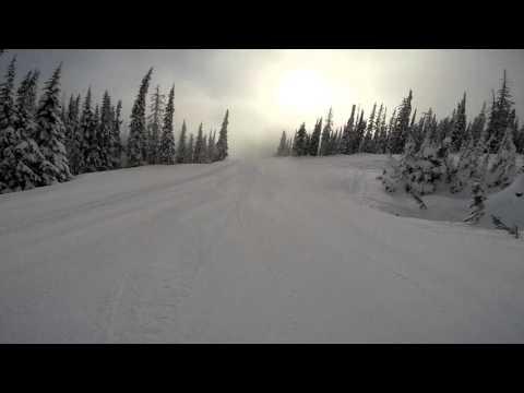 Sun Peaks 5 mile run in one recording