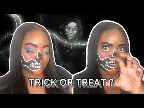 HALLOWEEN SKULL MAKEUP TUTORIAL | MENDYSSS thumbnail