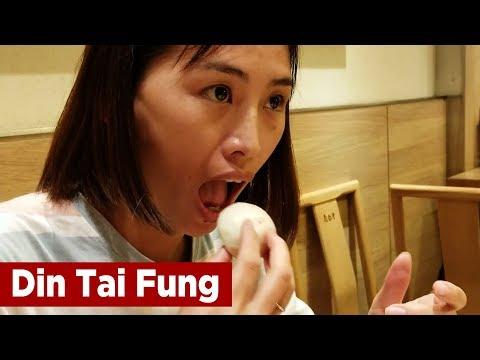 Happy Wife at Din Tai Fung - Must Eat Food in Taipei, Taiwan