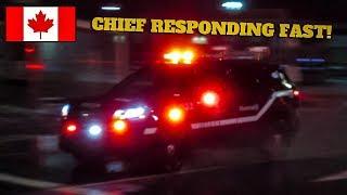 Pointe-Claire | Montréal Fire Service (SIM) Battalion Chief 132 Responding FAST to Fire Call