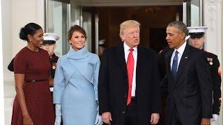 بالفيديو - ما هو سر ''العلبة الزرقاء'' التي أهدتها ميلانيا ترامب إلى ميشيل أوباما؟