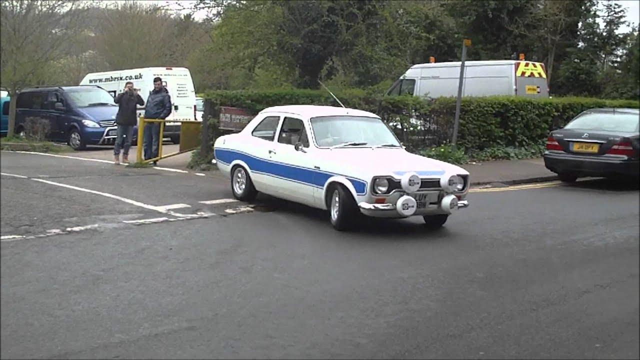 e0d30354a4 MK2 Ford Escort Cosworth van   MK1 Escort leaving Box Hill - YouTube