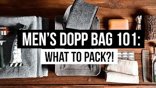 WHAT TO PACK FOR TRAVEL!? | MENS DOPP BAG 101: ESSENTIALS | JAIRWOO