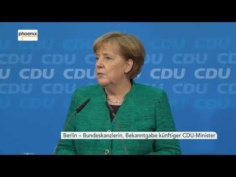 Pressekonferenz von Angela Merkel zu möglichen CDU-Ministern am 25.02.18