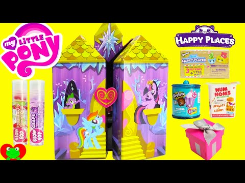 My Little Pony Twilight Sparkle Castle Jewelry Box with Shopkins Happy Places and Surprises