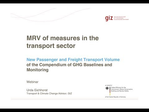 Webinar: MRV of Measures in the Transport Sector