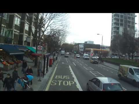 Number 18 bus ride (complete journey) from Harrow Road to Euston Station, London - 3rd February 2014