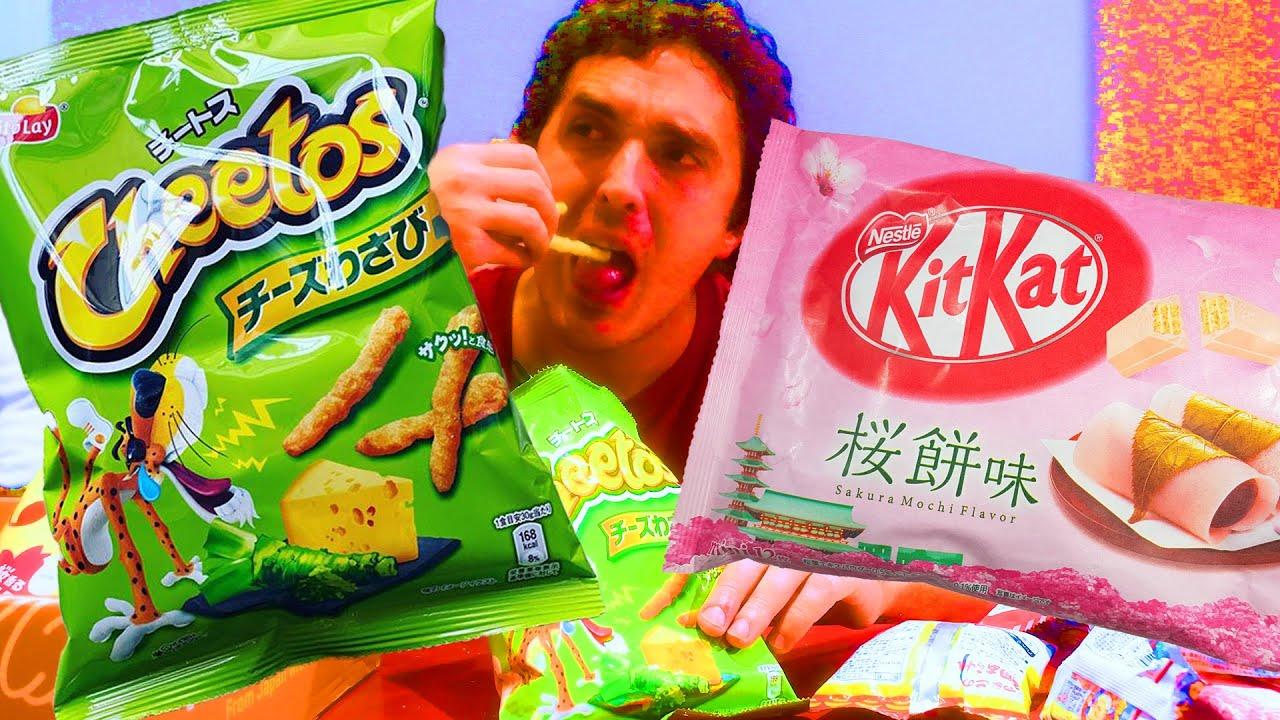 WASABI CHEETOS + SAKURA JAPANESE FOODS FEAST ! | NOMNOMSAMMIEBOY