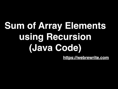 find-sum-of-array-elements-using-recursion