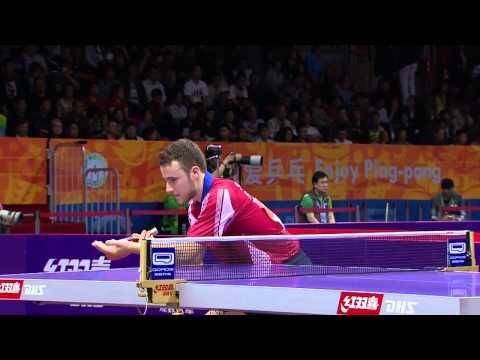 44 ACHANTA Sharath Kamal IND vs 35 GAUZY Simon FRA - WTTC 2015 [HD][Full Match]