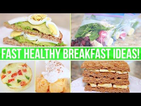 QUICK & HEALTHY BREAKFAST IDEAS! Healthy Fast Food!