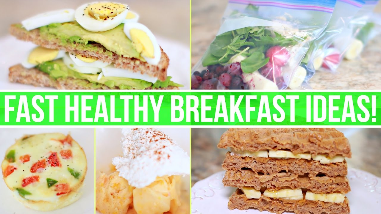 how to make healthy breakfast foods