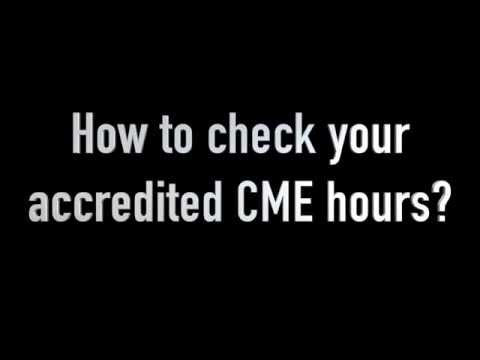 How To Check Your Accredited SCFHS CME Hours YouTube