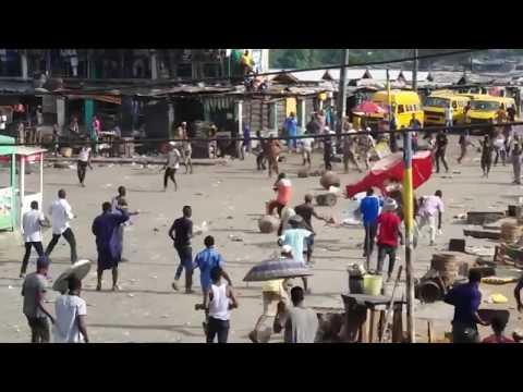 Bloody Street Fight In Lagos Nigeria