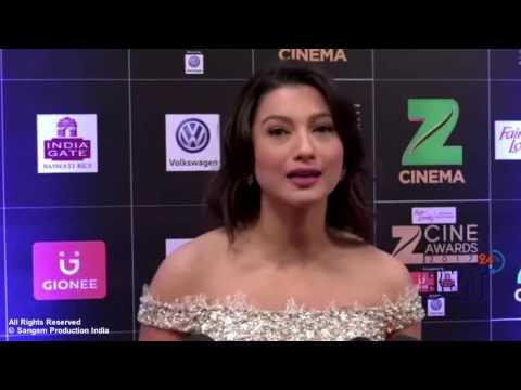 Gauhar Khan Showing Assets at The Red Carpet of Zee Cine Award