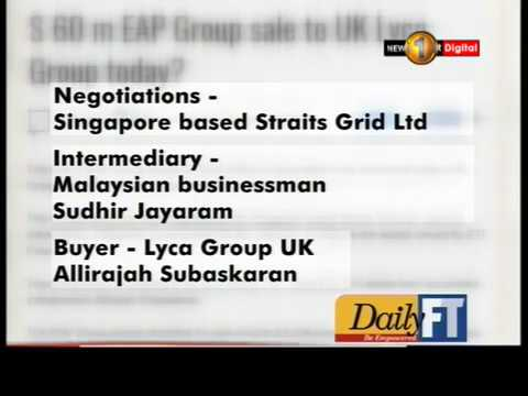 Imminent deal on the sale of EAP Group Assets
