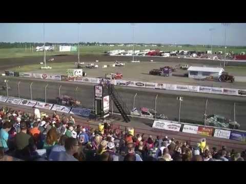 Red River Valley Speedway 06/24/2016 - IMCA Sport Mods Heat 2