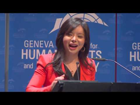 Anastasia Lin at Geneva Summit 2016