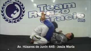 Técnicas de jiu jitsu brasilero - Triángulo desde la guardia: Modo 1