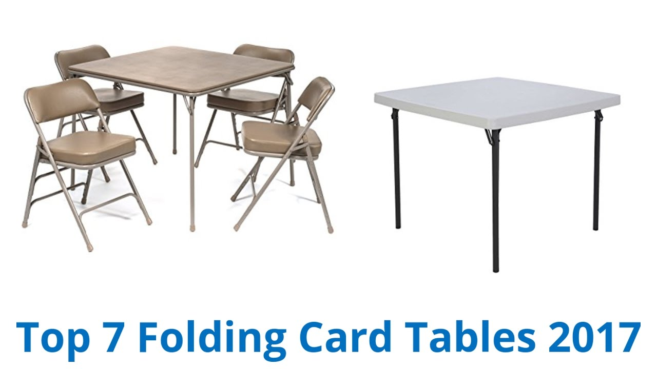 7 Best Folding Card Tables 2017