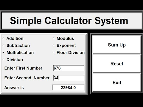 How to create simple calculator in python youtube.
