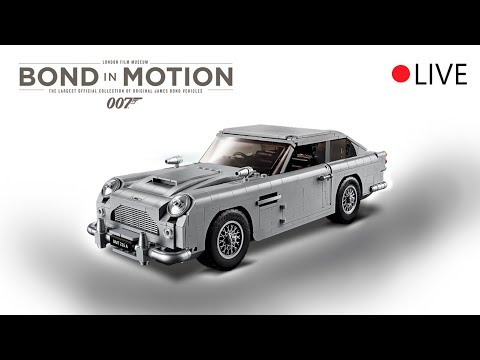 Building LEGO James Bond Aston Martin DB5 LIVE from Bond in Motion Exhibition @London Film Museum