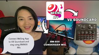 HOW TO CONNECT WESING APP AND BM800 CONDENSER MIC TO V8 SOUND CARD: FOR IPHONE USER ONLY screenshot 3