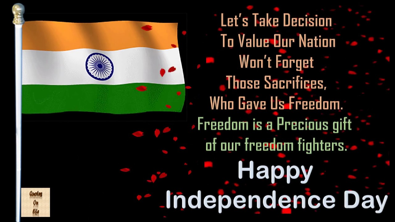 Happy independence day video15 august 2016 greetings sms wishes happy independence day video15 august 2016 greetings sms wisheswhatsapp videoquotes message kristyandbryce Images