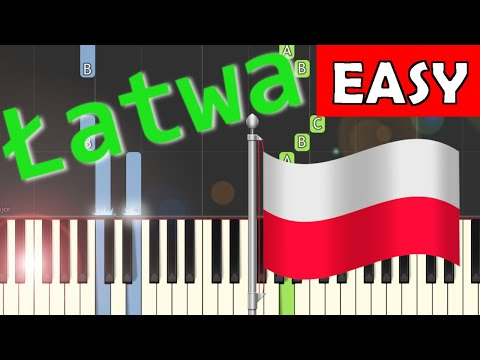 🎹 Hymn Polski (Mazurek Dąbrowskiego, POLISH ANTHEM) - Piano Tutorial (łatwa wersja) (EASY) 🎹