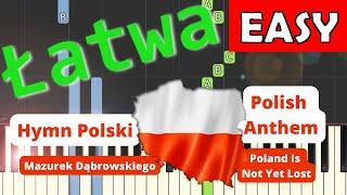 Hymn Polski (Mazurek Dąbrowskiego) - łatwa synthesia